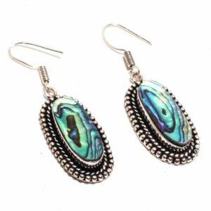 Abalone Shell & .925 Silver Earrings